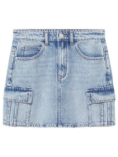 mango-teen-girls-cargo-pocket-denim-skirt-mid-blue