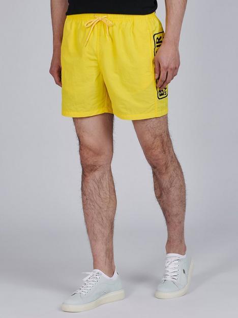 barbour-international-large-logo-swim-shorts-yellownbsp