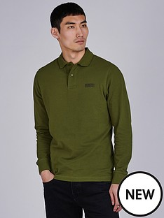 barbour-international-long-sleeve-polo-vintage-greennbsp