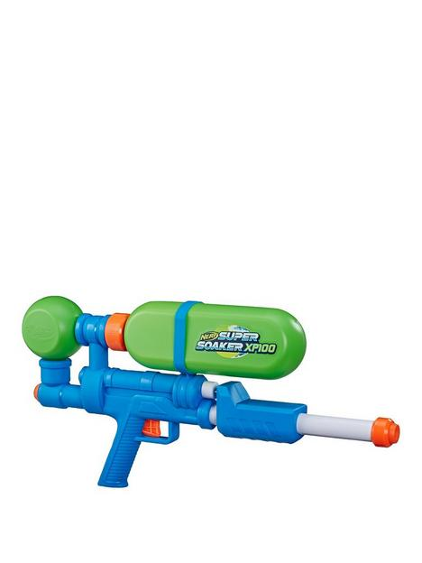 nerf-super-soaker-xp100-water-blaster-air-pressurised-continuous-blast-removable-tank-for-kids-teens-adults