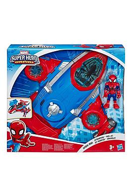marvel-playskool-heroes-marvel-super-hero-adventures-spider-man-jetquarters-5-inch-action-figure-and-vehicle-set-toy-jet-collectible-toys-for-kids-from-3-years-old