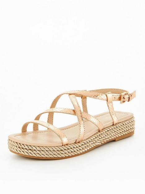 v-by-very-strappy-rope-trim-sandal-rose-gold