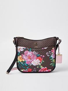 river-island-floral-monogram-structured-messenger-bag-brown