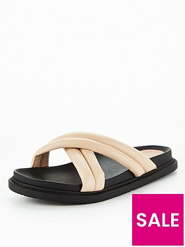 v-by-very-clown-padded-footbed-slider-nude