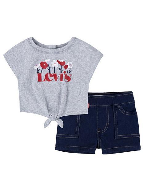 levis-baby-girls-tie-front-t-shirt-and-denim-short-set-grey-marldark-wash