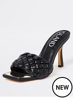 river-island-woven-heeled-mule-black