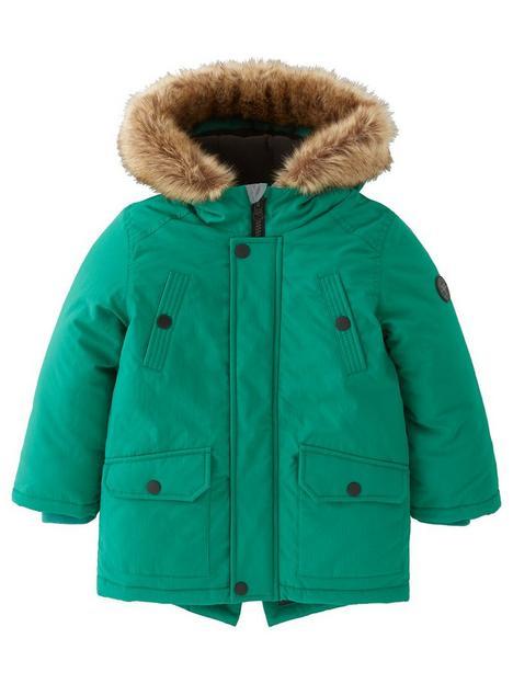 mini-v-by-very-boys-faux-fur-hooded-half-fleece-linednbspparka-forest-green