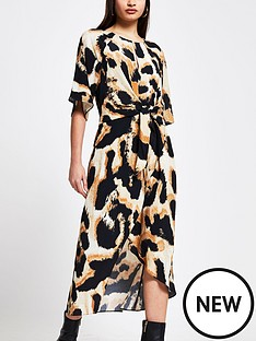 river-island-knot-front-midi-dress-animal-print