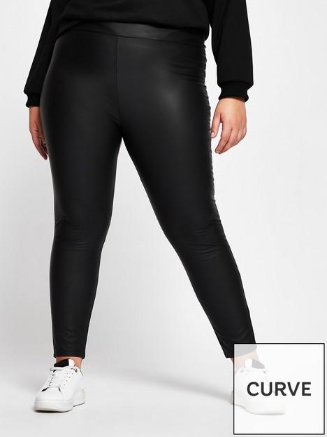 ri-plus-high-waist-matte-coated-legging-black