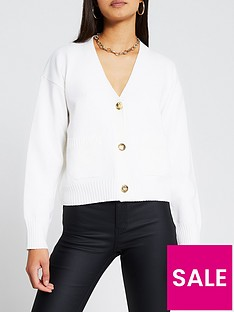 river-island-button-detail-cardigan-ivory
