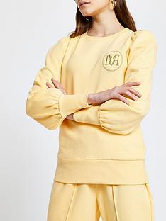 river-island-crew-neck-sweatshirt-yellow