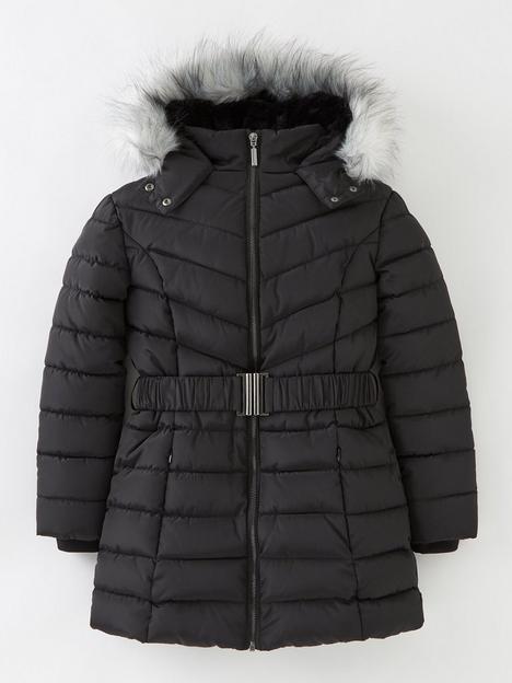 v-by-very-girls-faux-fur-hooded-fauxnbspfur-linednbspcoat--nbspblack