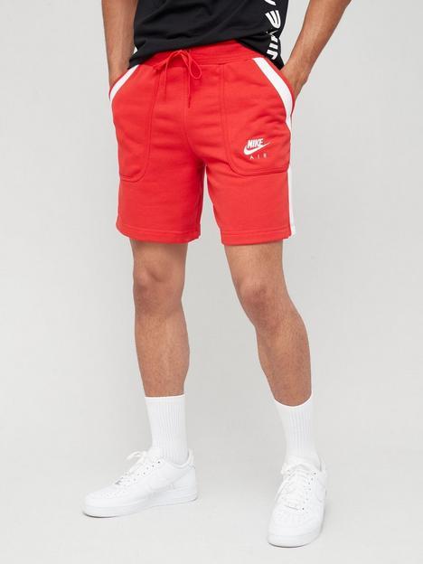 nike-air-fleece-shorts-red