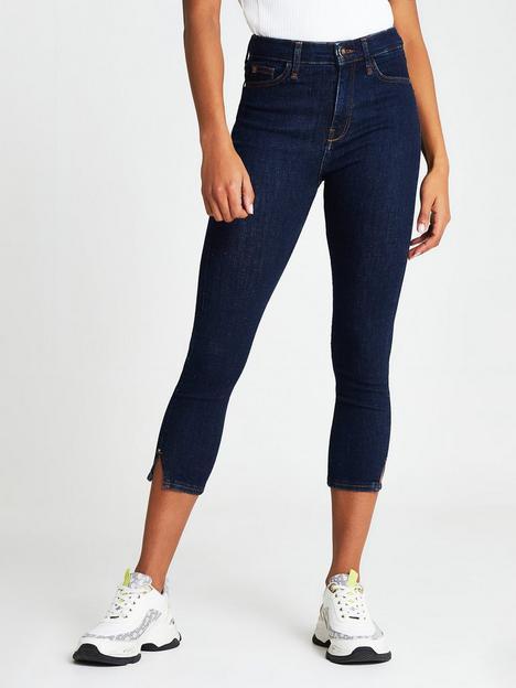 river-island-high-waist-78-length-skinny-jean-dark-blue
