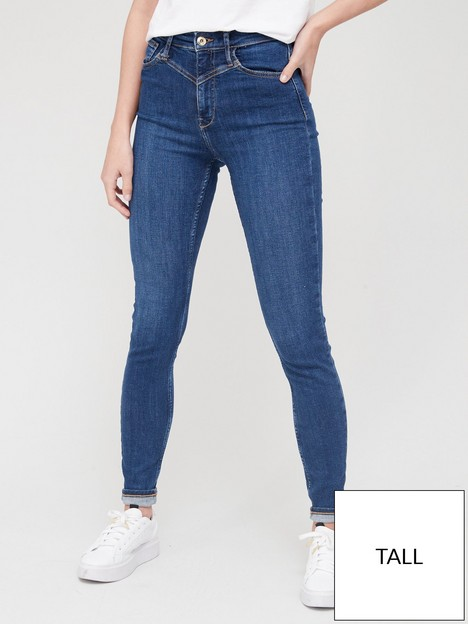 river-island-tall-high-waist-georgie-skinny-jean-blue
