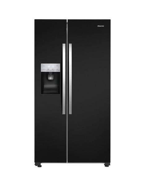 hisense-rs694n4ibf-91cm-wide-total-no-frost-american-style-fridge-freezer-black-look