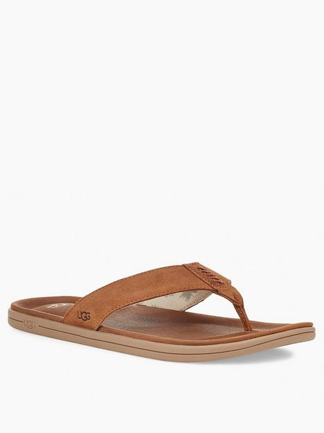 ugg-brookside-canvas-flip-flops