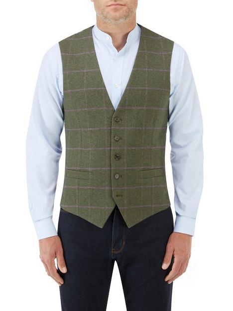 skopes-crowley-standard-v-waistcoat-check