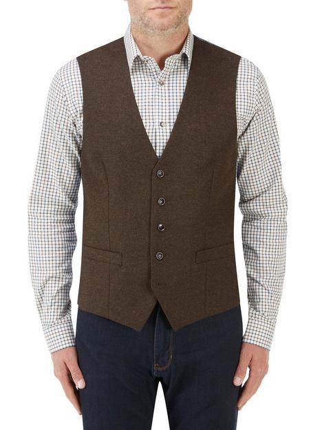 skopes-chadwick-standard-v-waistcoat-brown