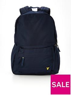 lyle-scott-badge-backpack-navy