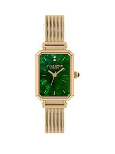 lola-rose-lola-rose-emerald-diamond-tank-dial-gold-stainless-steel-mesh-strap-ladies-watch