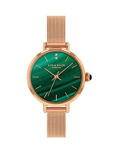 lola-rose-lola-rose-malachite-diamond-dial-rose-gold-stainless-steel-mesh-strap-ladies-watch