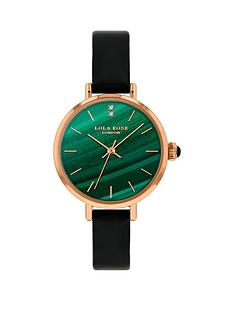 lola-rose-lola-rose-malachite-diamond-dial-black-leather-strap-ladies-watch