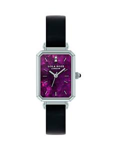 lola-rose-lola-rose-amethyst-diamond-tank-dial-black-leather-strap-ladies-watch
