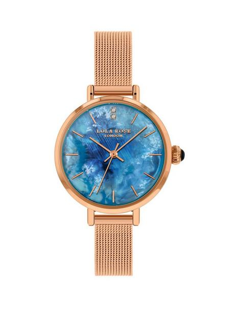 lola-rose-lola-rose-blue-opal-diamond-dial-rose-gold-stainless-steel-mesh-strap-ladies-watch