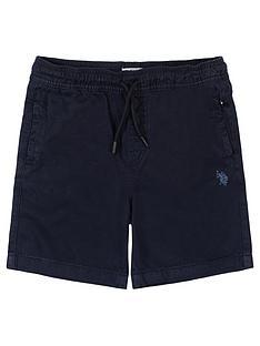 us-polo-assn-boys-woven-classic-shorts-navy