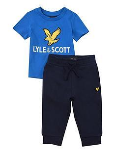 lyle-scott-toddler-boys-eagle-logo-tee-and-jog-set-blue