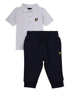 lyle-scott-toddler-boys-tipped-polo-and-jogger-set-white