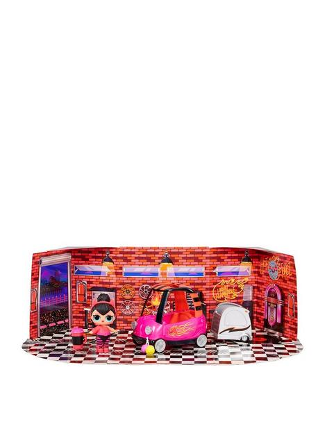 lol-surprise-furniture-bb-auto-shop-packnbspwith-spice-doll-and-10-surprises-doll-car-set-accessories