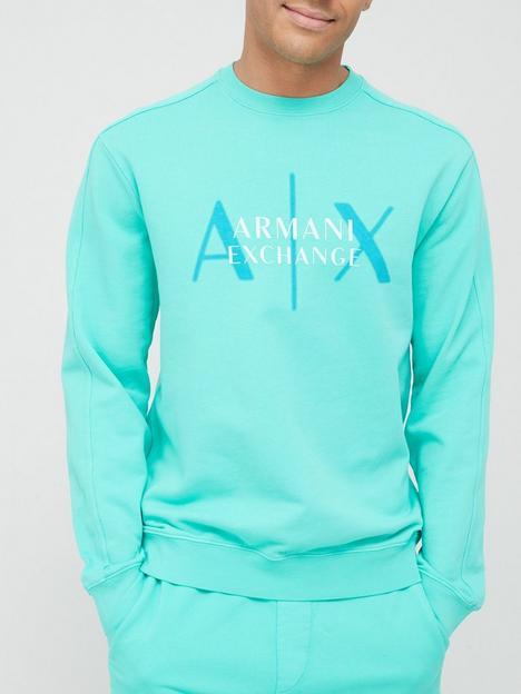 armani-exchange-out-of-focus-logo-sweatshirt-mint-green