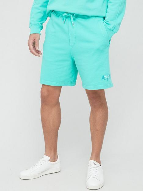 armani-exchange-out-of-focus-logo-jersey-shorts-mint-green