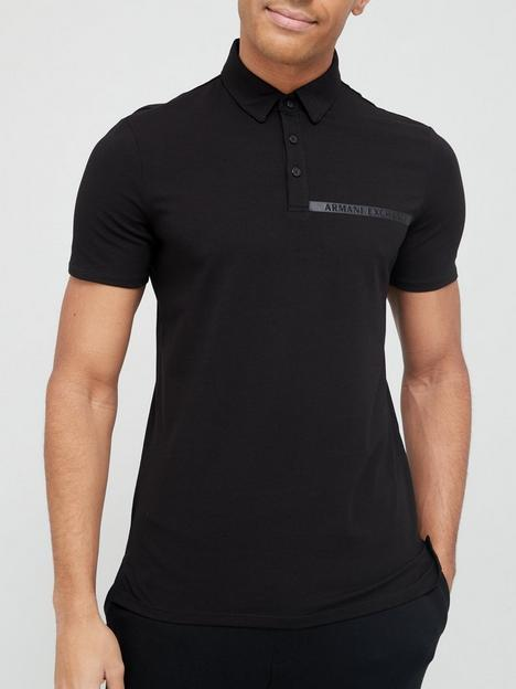armani-exchange-tape-logo-polo-shirt-black