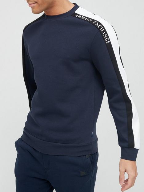 armani-exchange-sweatshirt-with-side-stripe-navy