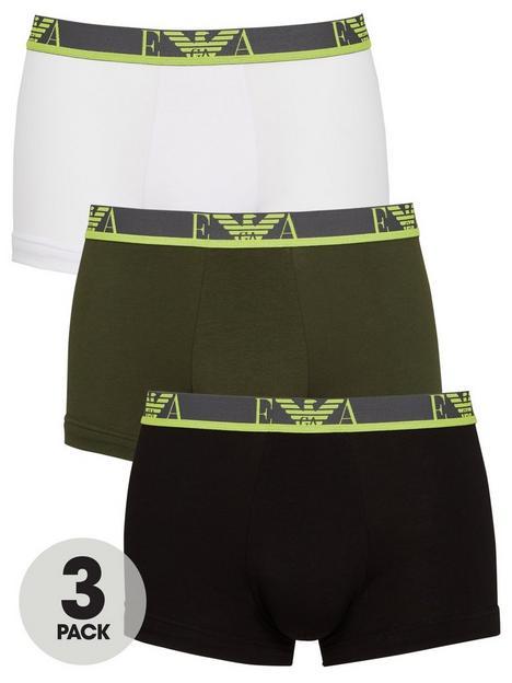 emporio-armani-bodywear-3-pack-eva-stretch-cottonnbspneon-waistband-trunks-blackwhitekhaki