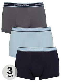 emporio-armani-bodywear-3-pack-stretch-cottonnbspwaistband-trunks-navygreyblue