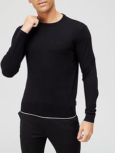 armani-exchange-classic-knitted-jumper-black