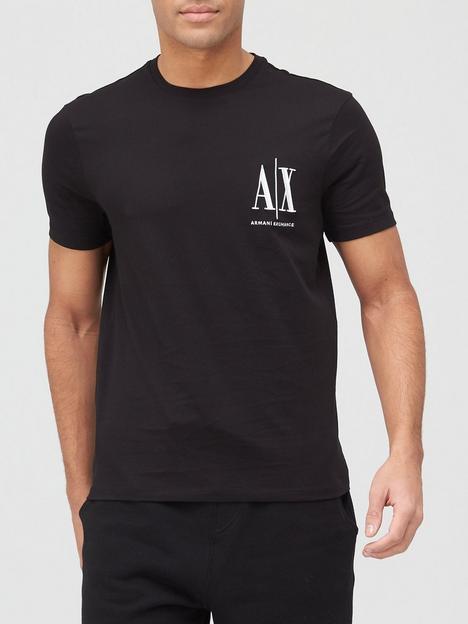 armani-exchange-icon-small-logo-t-shirt-black