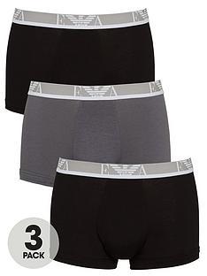 emporio-armani-bodywear-3-pack-eva-stretch-cottonnbspwaistband-trunks-blackgrey