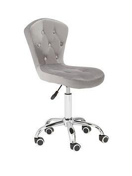 premier-housewares-amelie-velvet-office-chair--grey