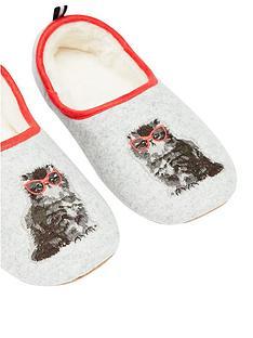 joules-cat-slippet-slippers-grey