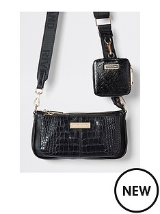 river-island-faux-croc-crossbody-bag-with-small-pouch-black