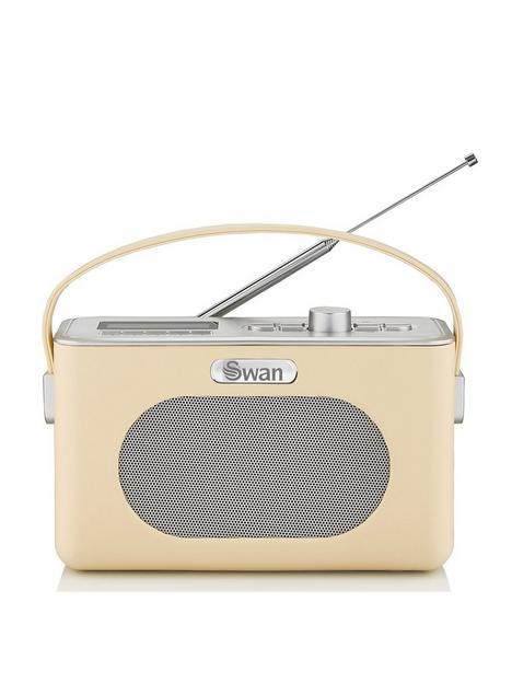 swan-retro-dab-bluetooth-radio-cream
