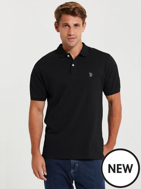 us-polo-assn-corenbsppique-polo-shirt-blacknbsp