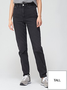 river-island-tall-high-waist-mom-jean-washed-black