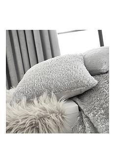 by-caprice-vivian-sparkle-faux-fur-cushion-grey