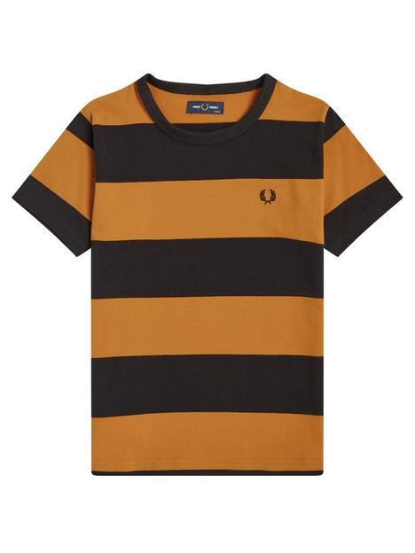 fred-perry-boys-striped-short-sleevenbspt-shirt-bright-gold